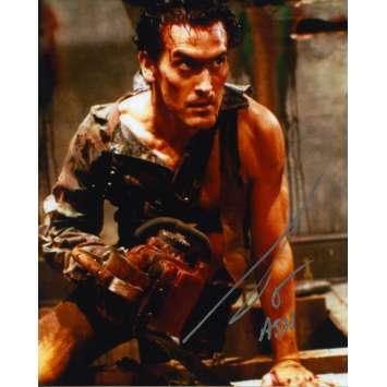 EVIL DEAD 2 Photo signée - 21x30 cm. - 1987 - Bruce Campbell, Sam Raimi