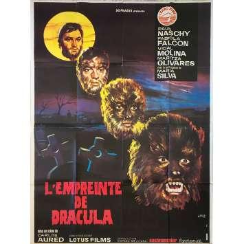 L'EMPREINTE DE DRACULA Affiche de film - 120x160 cm. - 1973 - Paul Naschy, Carlos Aured