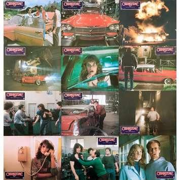 CHRISTINE Original Lobby Cards x12 - 9x12 in. - 1983 - John Carpenter, Keith Gordon