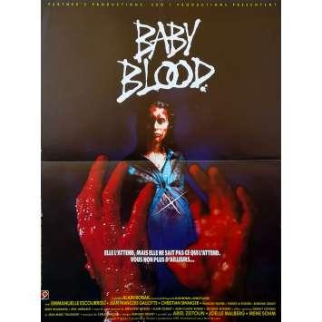 BABY BLOOD Original Movie Poster - 15x21 in. - 1990 - Alain Robak, Emmanuelle Escourrou