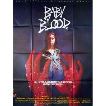 BABY BLOOD Affiche de film - 120x160 cm. - 1990 - Emmanuelle Escourrou, Alain Robak