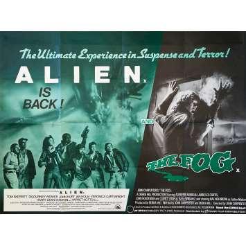 ALIEN / FOG Affiche de film - 76x102 cm. - 1980 - Sigourney Weaver, Ridley Scott, John Carpenter