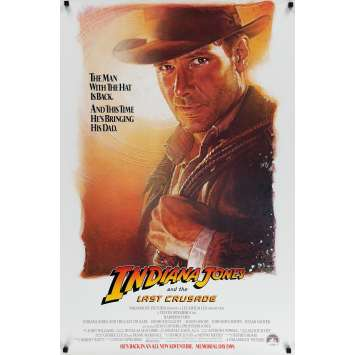 INDIANA JONES & THE LAST CRUSADE US Movie Poster 29x41 - 1989 - Steven Spielberg, Harrison Ford
