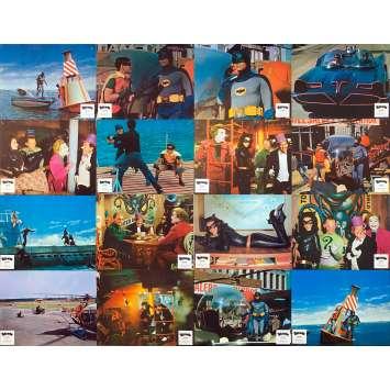 BATMAN Rares Photos de film x16 - 21x30 cm. - 1965 - Adam West, Bob Kane