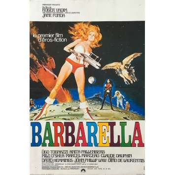 BARBARELLA Original Movie Poster - 15x21 in. - 1968 - Roger Vadim, Jane Fonda