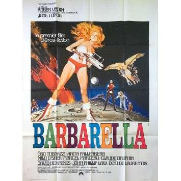 BARBARELLA Affiche de film - 120x160 cm. - 1968 - Jane Fonda, Roger Vadim