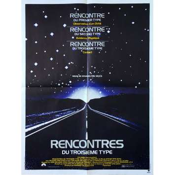 CLOSE ENCOUNTERS OF THE THIRD KIND Original Movie Poster - 23x32 in. - 1977 - Steven Spielberg, Richard Dreyfuss