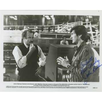 WAR GAMES Original Signed Photo - 8x10 in. - 1983 - John Badham, Matthew Broderick