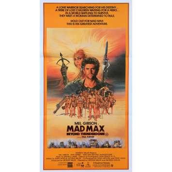 MAD MAX 3 Affiche de film - 33x78 cm. - 1985 - Mel Gibson, Tina Turner, George Miller