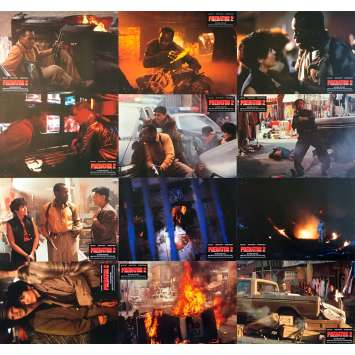 PREDATOR 2 Original Lobby Cards - 9x11,5 in. - 1990 - Stephen Hopkins, Danny Glover