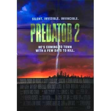 PREDATOR 2 Affiche de film Intl - 69x102 cm. - 1990 - Danny Glover, Stephen Hopkins
