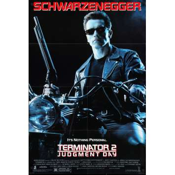 TERMINATOR 2 Original Movie Poster - 27x40 in. - 1992 - James Cameron, Arnold Schwarzenegger
