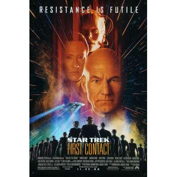 STAR TREK FIRST CONTACT Original Movie Poster - 27x40 in. - 1996 - Jonathan Frakes, Patrick Stewart