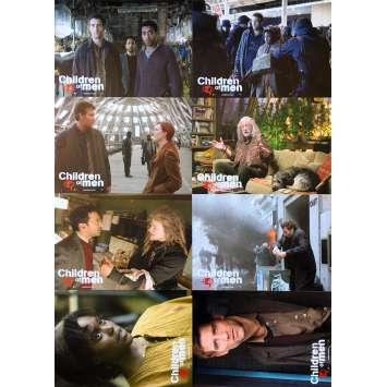 CHILDREN OF MEN Original Lobby Cards - 9x11,5 in. - 2006 - Alfonso Cuaron, Clive Owens