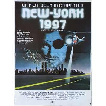 ESCAPE FROM NEW-YORK Original Movie Poster - 15x21 in. - 1981 - John Carpenter, Kurt Russel