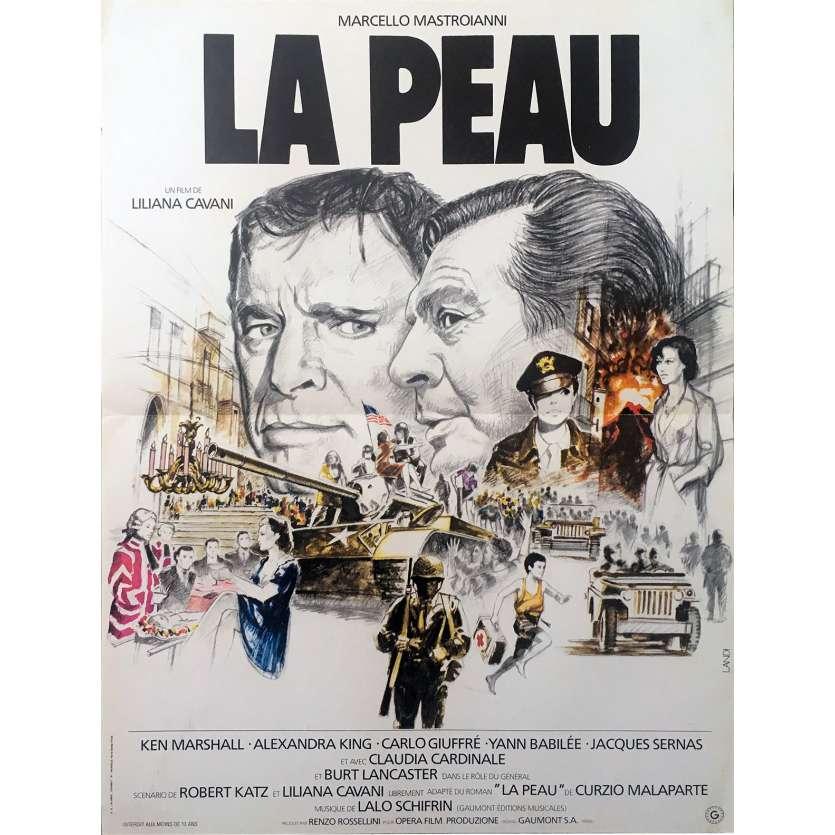 LA PEAU Affiche de film 40x60 - 1981 - Mastroiani, Cavani