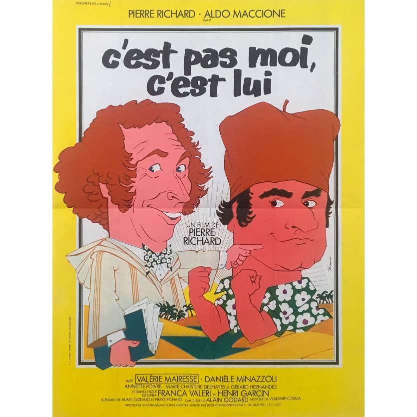 C'EST PAS MOI C'EST LUI Affiche de film 40x60 - 1980 - Pierre Richard, Aldo Maccione