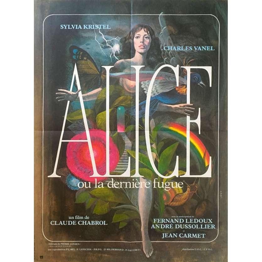 ALICE OR THE LAST ESCAPADE Original Movie Poster - 23x32 in. - 1977 - Claude Chabrol, Sylvia Kristel