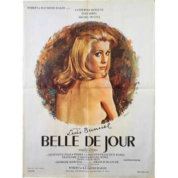 BELLE DE JOUR Original Movie Poster - 23x32 in. - 1967 - Luis Bunuel, Catherine Deneuve
