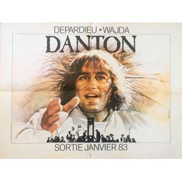 DANTON Original Movie Poster - 23x32 in. - 1984 - Andrzej Wajda, Gérard Depardieu