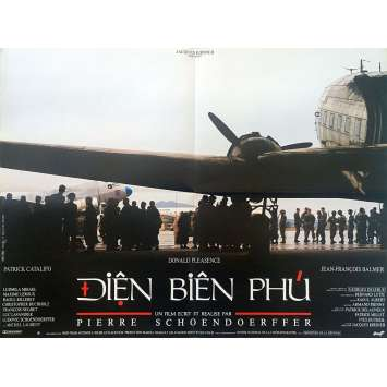 DIEN BIEN PHU Original Movie Poster - 23x32 in. - 1992 - Pierre Schoendoerffer, Donald Pleasance