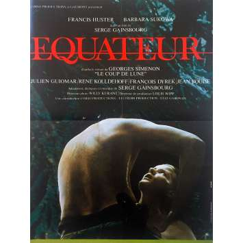 EQUATOR Original Movie Poster - 15x21 in. - 1983 - Serge Gainsbourg, Francis Huster