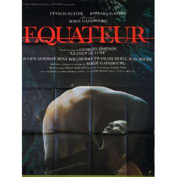 EQUATOR Original Movie Poster - 47x63 in. - 1983 - Serge Gainsbourg, Francis Huster