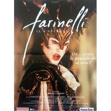 FARINELLI Affiche de film - 40x60 cm. - 1994 - Stefano Dionisi, Gérard Corbiau