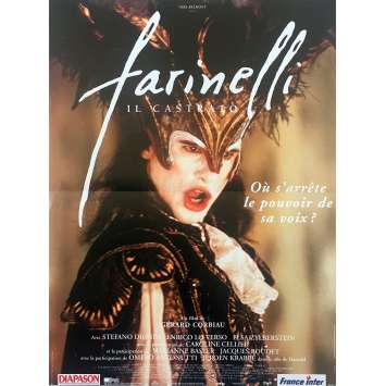 FARINELLI Original Movie Poster - 15x21 in. - 1994 - Gérard Corbiau, Stefano Dionisi