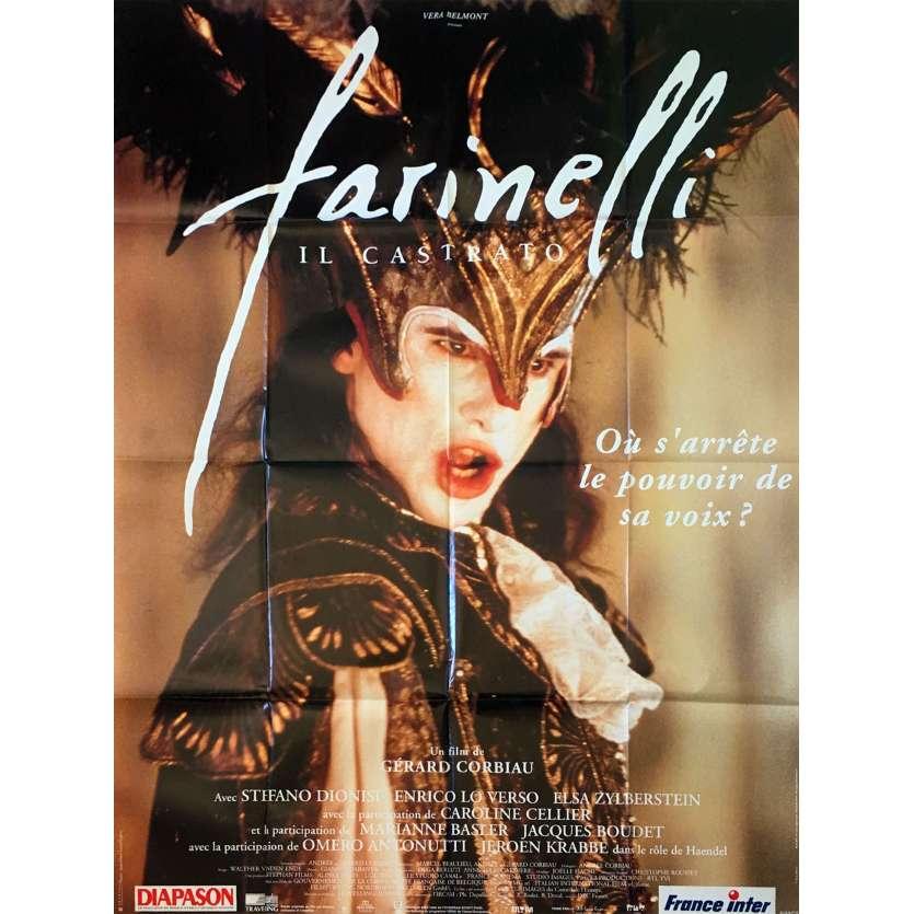 FARINELLI Affiche de film - 120x160 cm. - 1994 - Stefano Dionisi, Gérard Corbiau