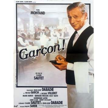GARÇON! Original Movie Poster - 15x21 in. - 1983 - Claude Sautet, Yves Montand