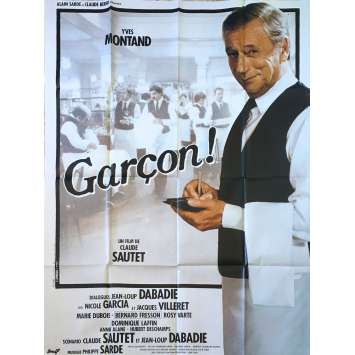 GARÇON! Original Movie Poster - 47x63 in. - 1983 - Claude Sautet, Yves Montand