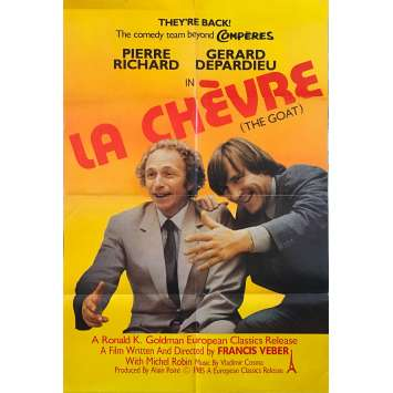 LA CHEVRE Affiche de film - 69x102 cm. - 1981 - Pierre Richard, Gérard Depardieu, Francis Veber