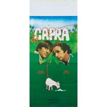 LA CHEVRE Affiche de film - 33x71 cm. - 1981 - Pierre Richard, Gérard Depardieu, Francis Veber