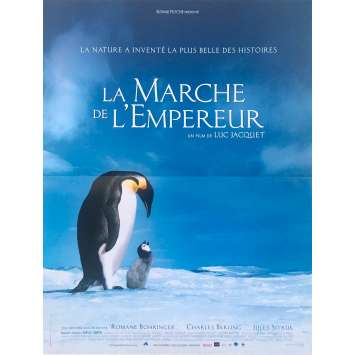 MARCH OF THE PINGUINS Original Movie Poster - 15x21 in. - 2005 - Luc Jacquet, Morgan Freeman