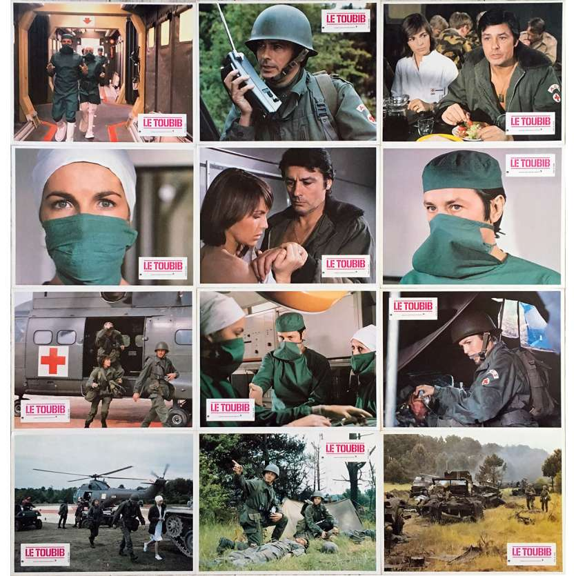 THE MEDIC Original Lobby Cards x12 - 9x12 in. - 1979 - Pierre Granier-Deferre, Alain Delon