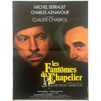 THE HATTER'S GHOST Original Movie Poster - 15x21 in. - 1982 - Claude Chabrol, Michel Serrault