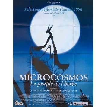 MICROCOSMOS Original Movie Poster - 47x63 in. - 1996 - Claude Nuridsany, Marie Pérennou, Kristin Scott Thomas