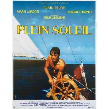 PURPLE NOON Original Movie Poster - 15x21 in. - 1960 - René Clément, Alain Delon
