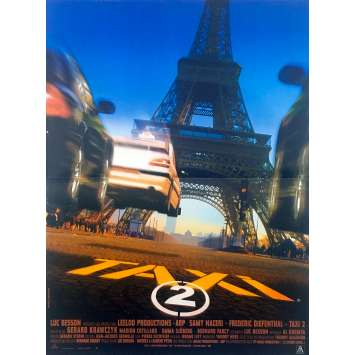 TAXI 2 Affiche de film - 40x60 cm. - 2000 - Samy Naceri, Frédéric Diefenthal, Gérard Krawczyk