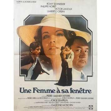UNE FEMME A SA FENETRE Affiche de film - 60x80 cm. - 1976 - Romy Schneider, Pierre Granier-Deferre