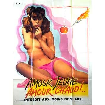 AMOUR JEUNE, AMOUR CHAUD Movie Poster 47x63 in. - 1979 - Jürgen Enz , Sonja Engels