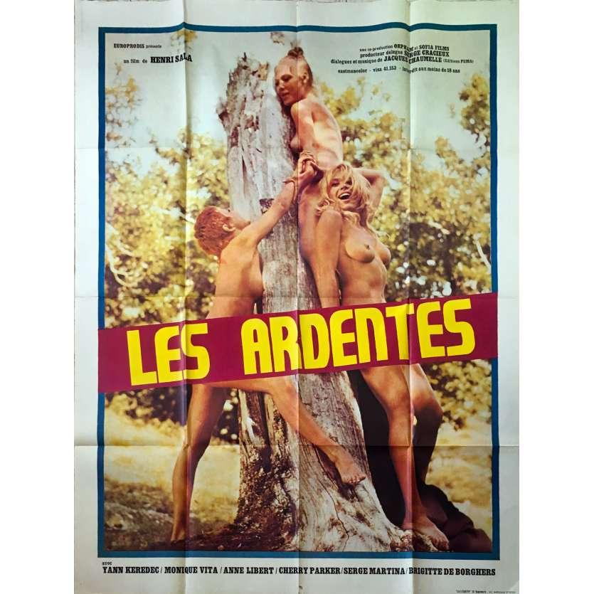 LES ARDENTES Affiche de film 120x160 cm - 1973 - Monique Vita, Henri Sala