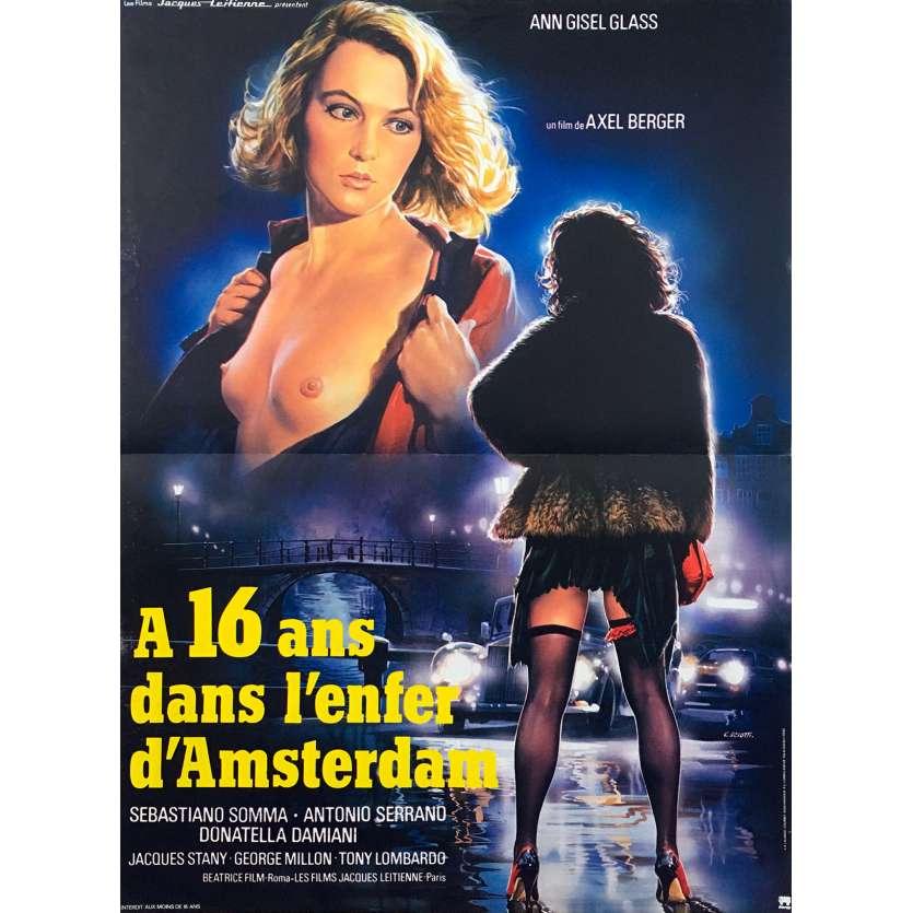 A 16 ANS DANS L'ENFER D'AMSTERDAM Affiche de film 40x60 - 1982