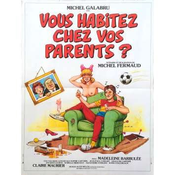 VOUS HABITEZ CHEZ VOS PARENTS French Movie Poster 15x21 - 1983 - Michel Fermaud, Michel Galabru