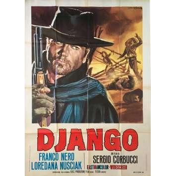 DJANGO Italian Movie Poster 40x55 - 1966 - Sergio Corbucci, Franco Nero