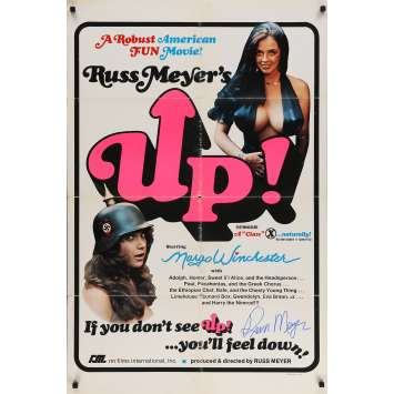 UP! Original Signed Poster - 27x40 in. - 1976 - Russ Meyer, Raven De La Croix