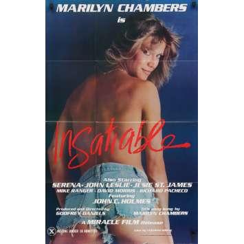 INSATIABLE Affiche de film - 69x102 cm. - 1980 - Marilyn Chambers, John Holmes, XXX