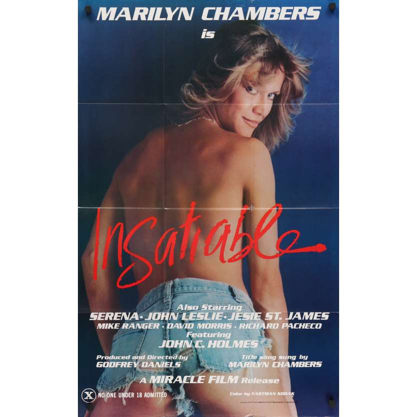 INSATIABLE Original Movie Poster - 27x40 in. - 1980 - Stu Segall, Marilyn Chambers