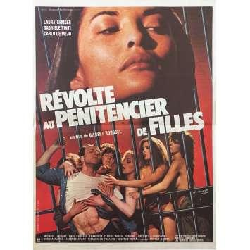 WOMEN'S PRISON MASSACRE Original Movie Poster - 15x21 in. - 1983 - Bruno Mattei, Laura Gemser